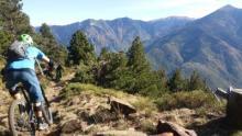 Mountain biking in the Pyrenees Orientales